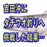 タチウオ釣りへ吉田沖に行った結果
